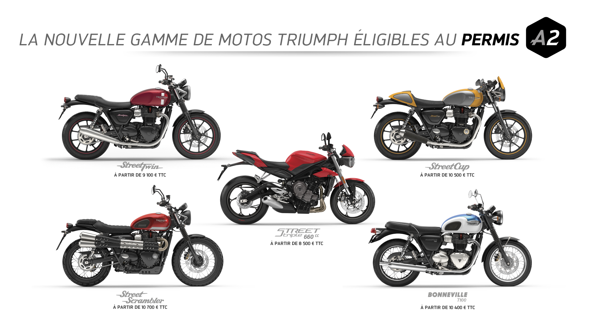 la gamme triumph permis a2 actualit de diagonale moto 78. Black Bedroom Furniture Sets. Home Design Ideas
